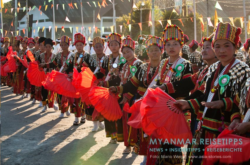 Myanmar Reisetipps | Myitkyina | Manao Fesitval im Januar