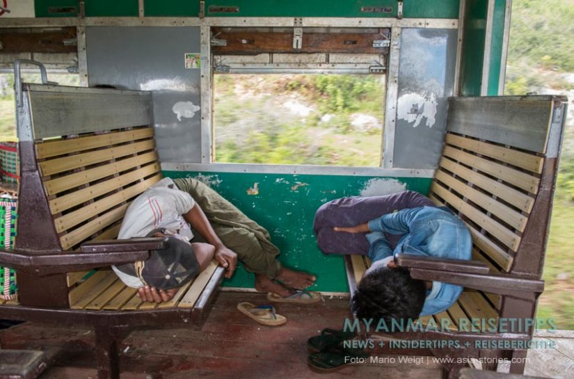 Myanmar Reisetipps | Bahnfahrt von und nach Yangon