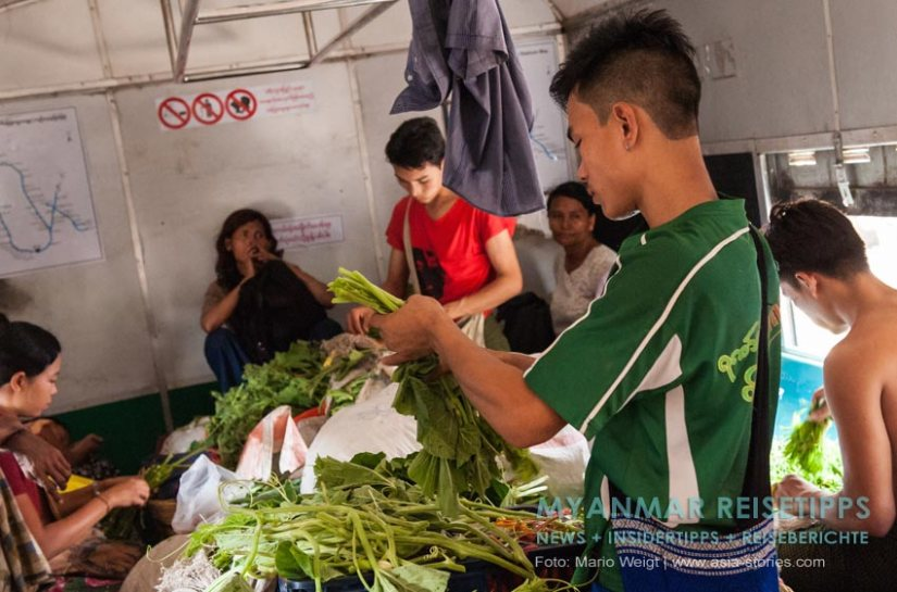 Myanmar Reisetipps | Yangon | Ringbahn oder Circular Train