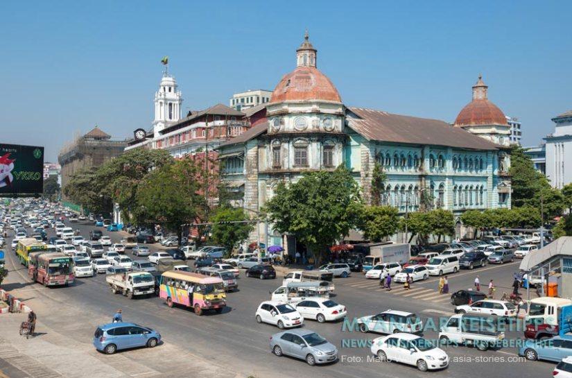 Myanmar Reisetipps | Yangon Division Court an der Strand Road
