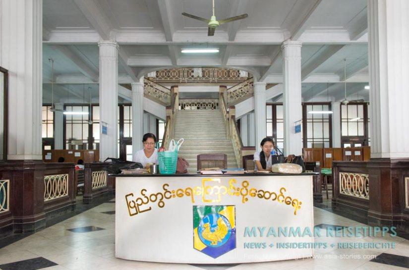 Myanmar Reisetipps | Yangon | Eingangsbereich vom Inland Water Transport (IWT)