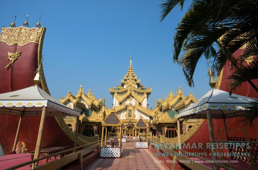 Myanmar Reisetipps | Yangon | Karaweik Palace im Kandawgyi-Park