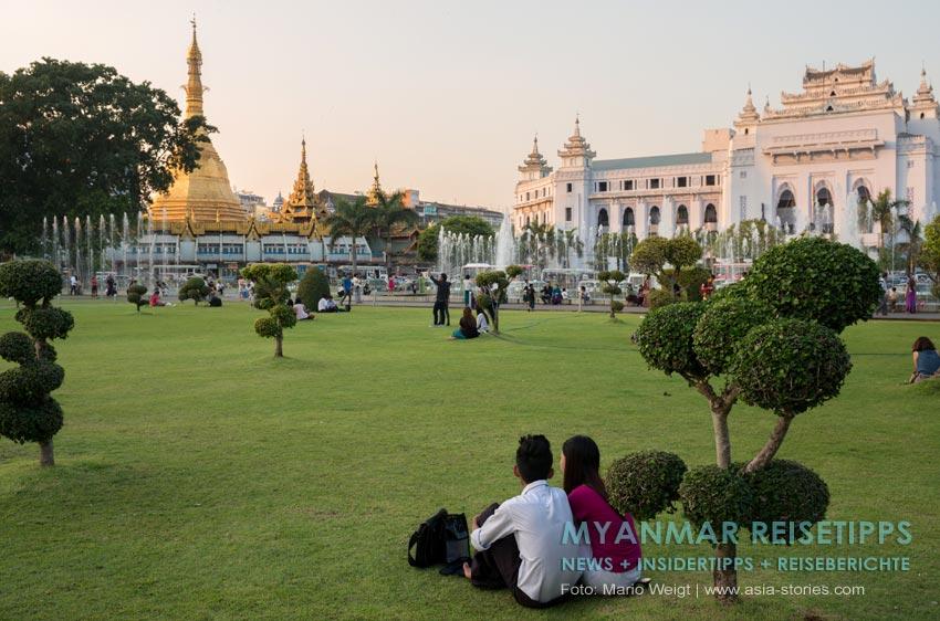 Myanmar Reisetipps | Yangon | Mahabandoola Garden