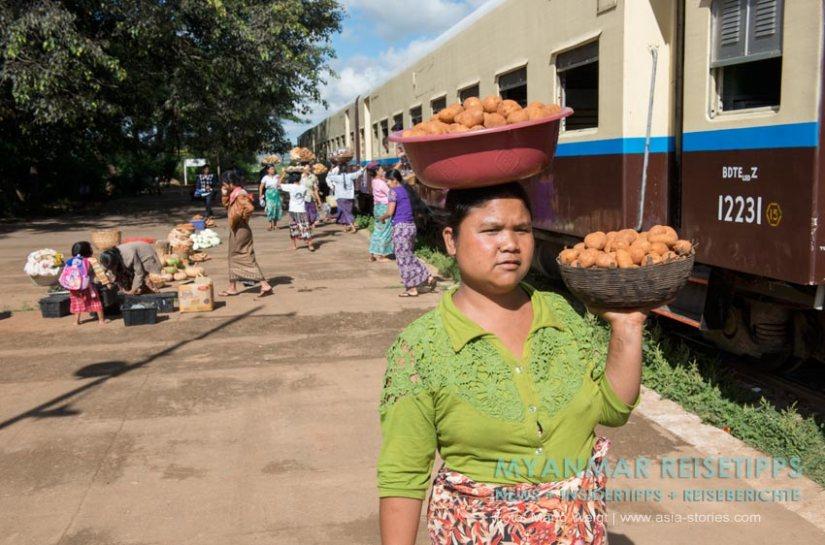 Myanmar Reisetipps | Mit der Bahn von Shwe Nyaung nach Kalaw