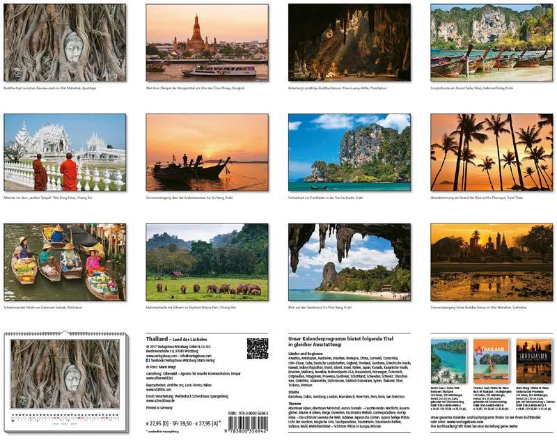 Motivübersicht vom Kalender 2018 THAILAND (60 x 48 cm)