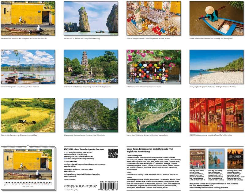 Motivübersicht vom Kalender 2018 VIETNAM (60 x 48 cm)
