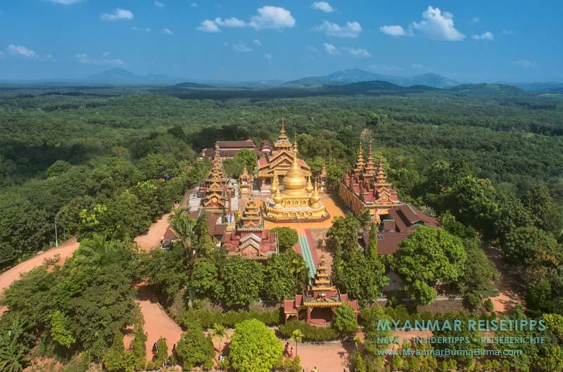 Myanmar Reisetipps | Umgebung von Ye | View vom Tempel Banana Mountain