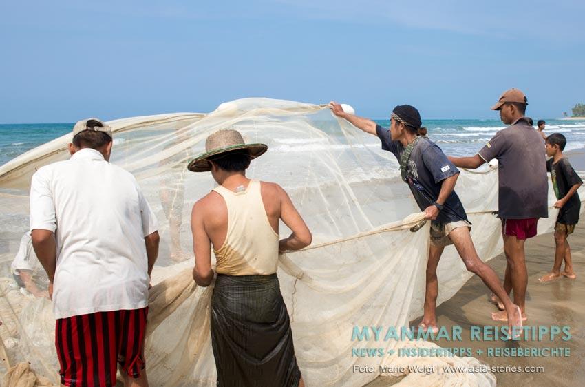 Myanmar Reisetipps | Fischer am Ngapali Beach