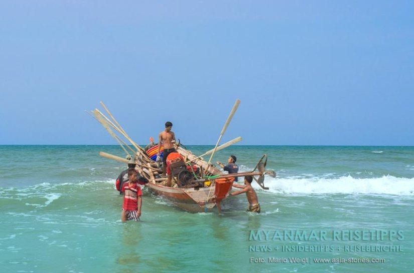 Myanmar Reisetipps   Fischer am Ngapali Beach
