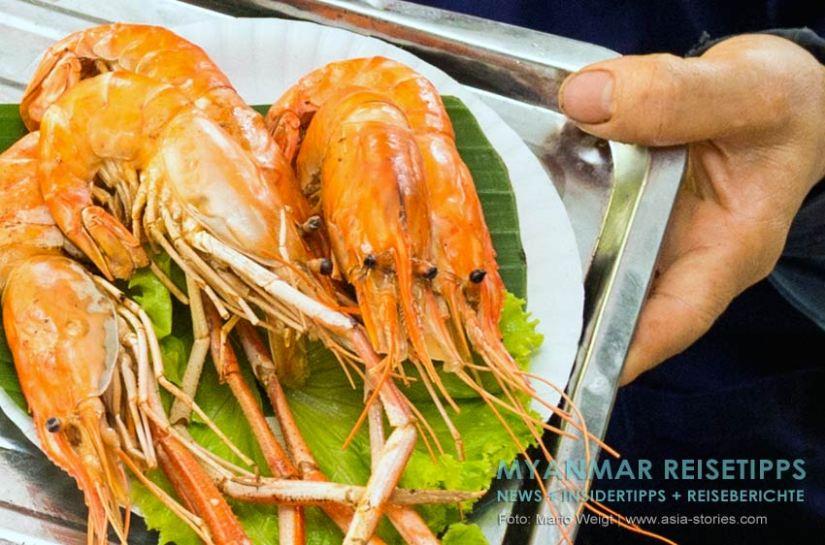 Myanmar Reisetipps   Seafood am Ngapali Beach