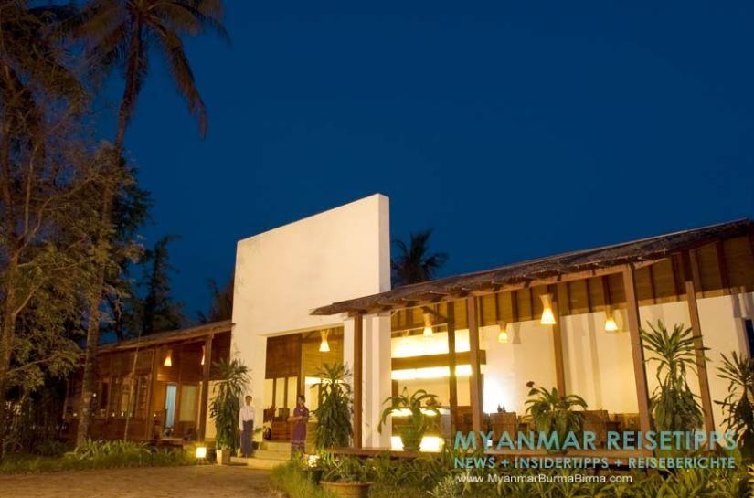 Myanmar Reisetipps   Ngapali Beach   Rezeption vom Pleasant View Resort