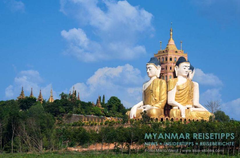 Myanmar Reisetipps | Stadt Ye und die Umgebung | Tempelkomplex Ko Yin Lay, auch unter Banana Mountain bekannt