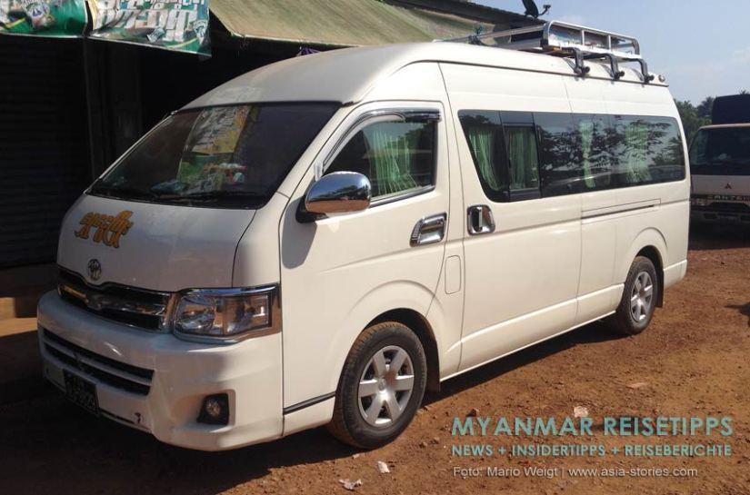 Myanmar Reisetipps | Ye und die Umgebung | Minivan nach Dawei