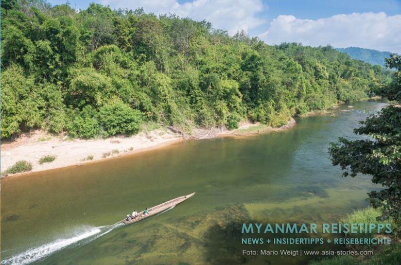 Myanmar Reisetipps | Stadt Ye und die Umgebung | Bootsfahrt auf dem Ye-Fluss
