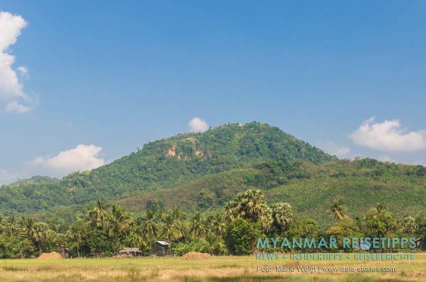 Myanmar Reisetipps | Stadt Ye und die Umgebung | Landschaft auf dem Weg zum Strand
