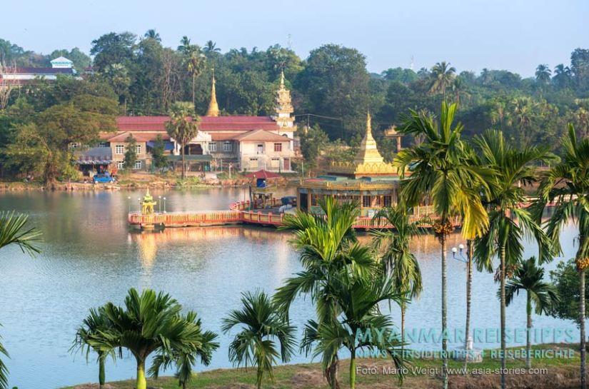 Myanmar Reisetipps | Stadt Ye und der Süden | Ausblick vom Starlight Guesthouse