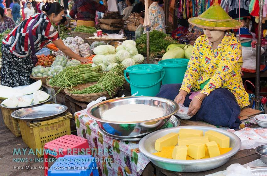 Myanmar Reisetipps | Vegetarischen Essen | Tofu wird in vielen Gerichten verwendet.