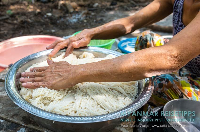 Myanmar Reisetipps | Vegetarischen Essen | Alle Nudelgerichte können auch vegetarisch bestellt werden.
