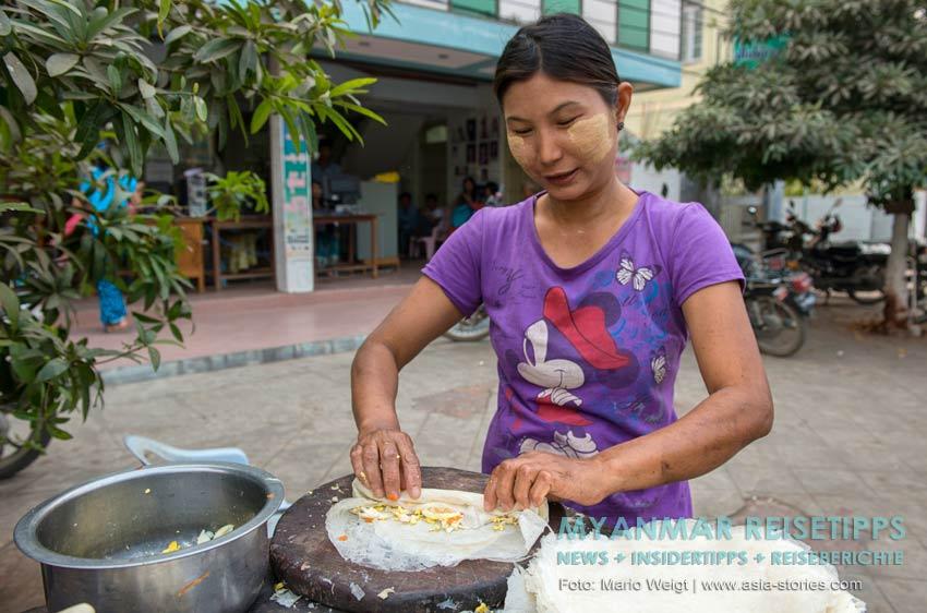 Myanmar Reisetipps | Vegetarischen Essen | Reisteig gefüllt mit Gemüse