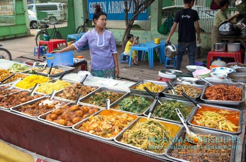 Myanmar Reisetipps | Vegetarischen Essen | Burmesische Currys