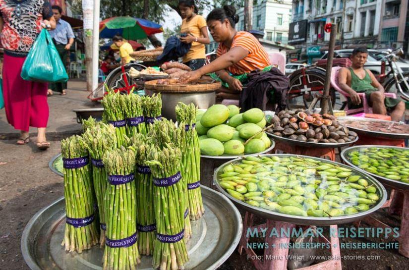 Myanmar Reisetipps | Vegetarischen Essen | Grüner Spargel