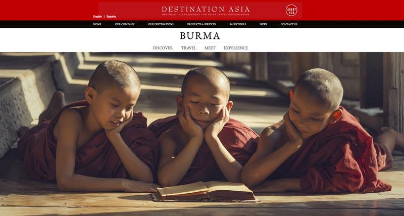 Startseite von Destination Asia