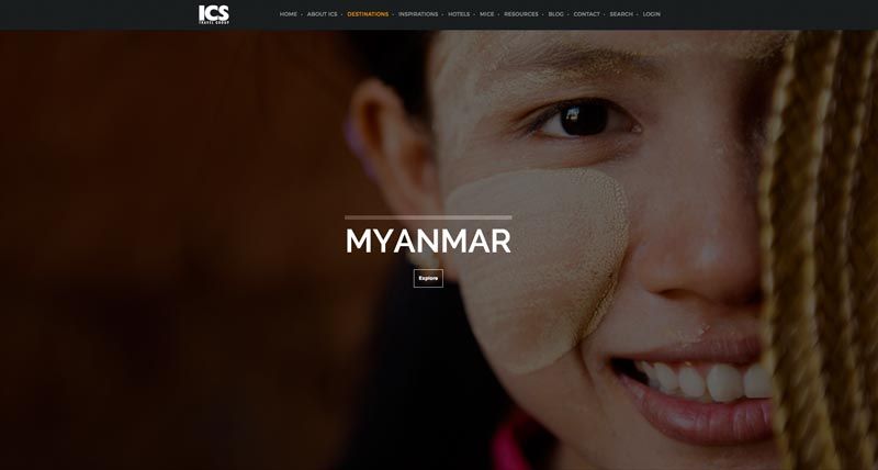 Startseite von ICS Travel Group