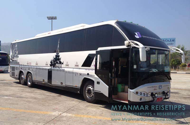 Myanmar Reisetipps | Inle-See und Indein | Busunternehmen JJ Express