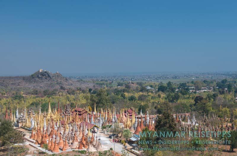 Myanmar Reisetipps | Inle-See und Indein | Dorf Indein liegt südwestlich vom Inle-See und ist mit dem Boot über einen Kanal erreichbar.