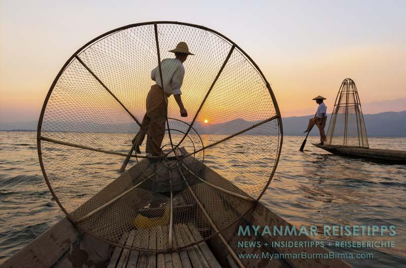 Myanmar Reisetipps | Inle-See und Indein | Einbeinruderer auf dem See