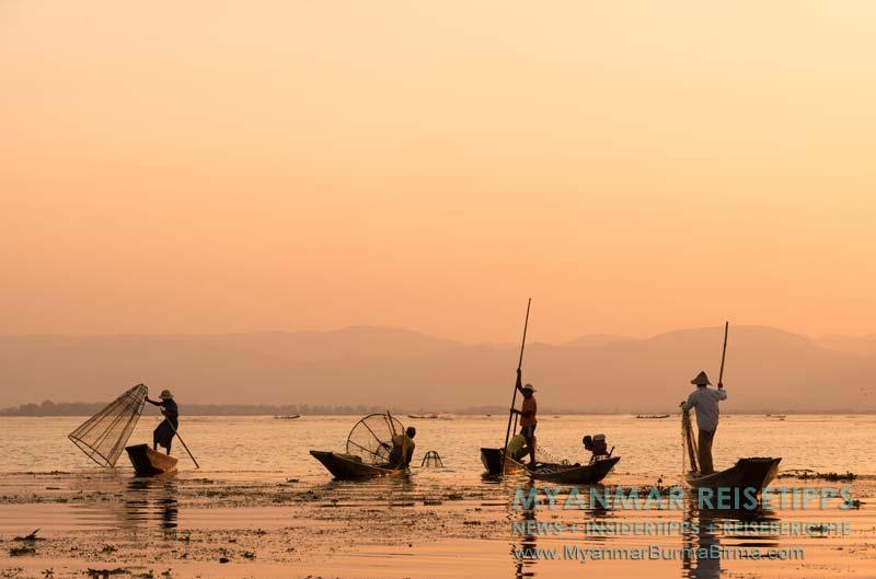 Myanmar Reisetipps | Inle-See und Indein | Fischer auf dem See