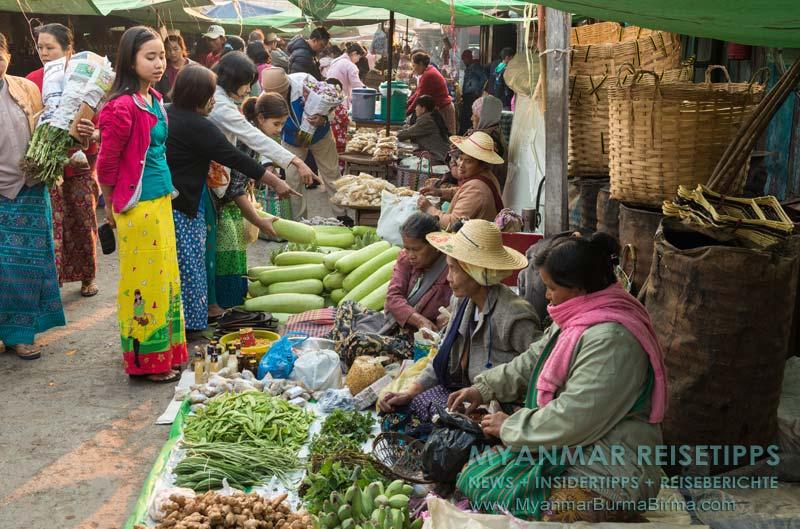 Myanmar Reisetipps | Inle-See und Indein | Einer der Fünf-Tage-Märkte am Inle-See
