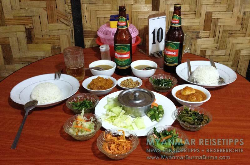 Myanmar Reisetipps | Inle-See und Indein | Essen im A + E Restaurant