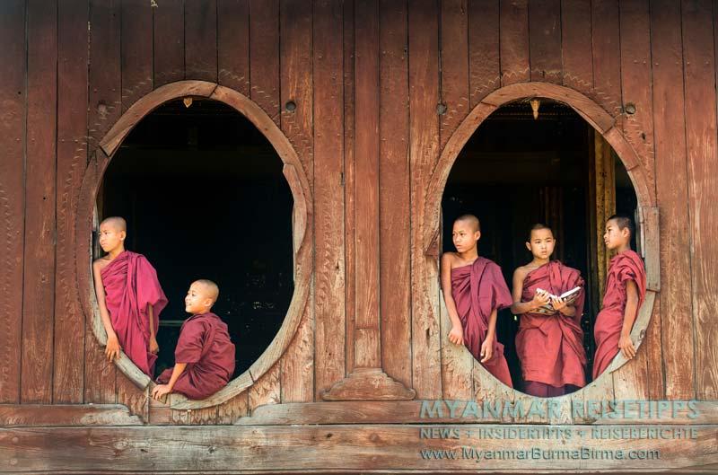 Myanmar Reisetipps | Inle-See und Indein | Das im Shan-Stil erbaute Teakholzkloster Shwe Yan Bye befindet sich zwei Kilometer nördlich von Nyaungshwe.
