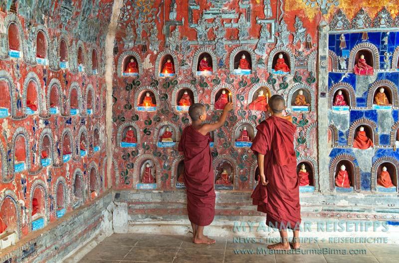 Myanmar Reisetipps | Inle-See und Indein | Das im Shan-Stil erbaute Kloster Shwe Yan Bye befindet sich zwei Kilomter nördlich vom Ort.