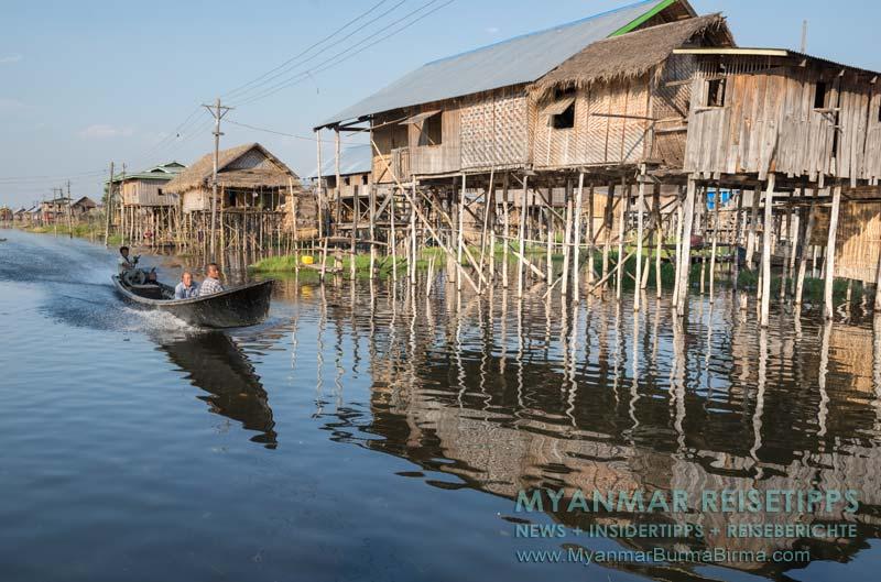Myanmar Reisetipps | Inle-See und Indein | Typisches Stelzendorf auf dem See