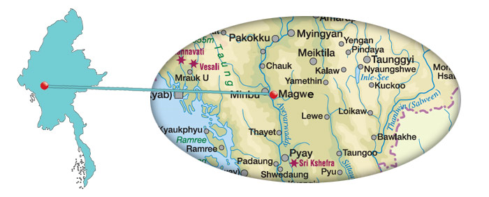 Myanmar - Karte von Magwe