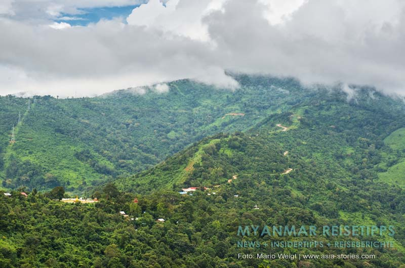 Myanmar Reisetipps | Mrauk U | Landschaft zwischen Magwe und Mrauk U