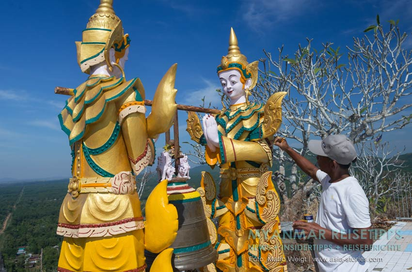 Myanmar Reisetipps | Mawlamyaing (Mawlamyine) | Heiliger Berg Kyauk Ta Lon Taung nahe Mudon