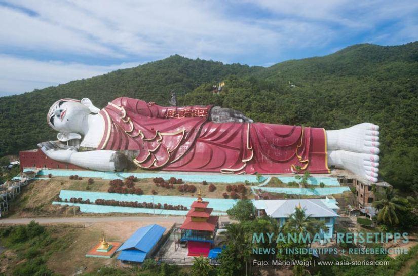 Myanmar Reisetipps   Mawlamyaing (Mawlamyine)   Liegender Buddha bei Mudon