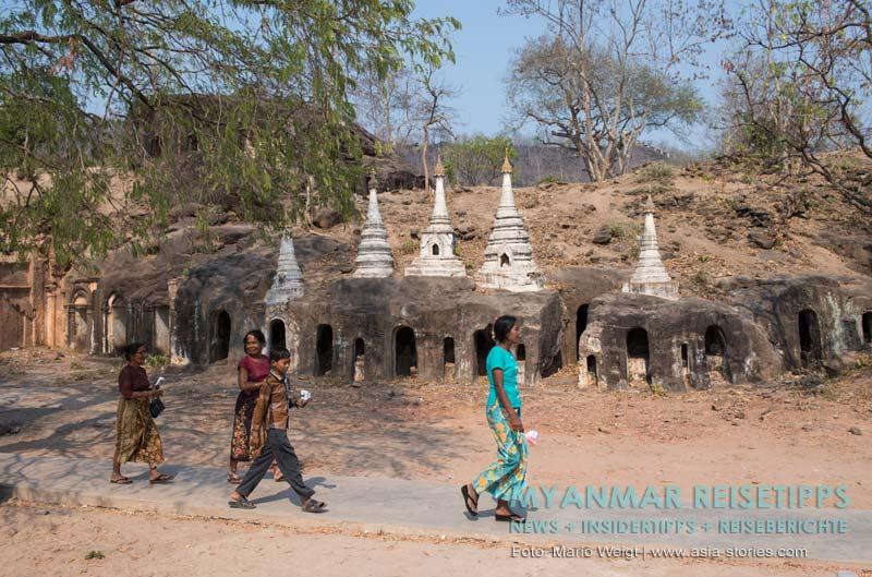 Myanmar Reisetipps | bei Monywa | Hpo-Win-Daung-Höhlen