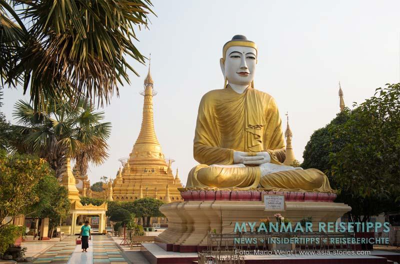 Myanmar Reisetipps | Monywa | Die Shwezigon-Pagode steht im Zentrum und ist buddhistisches Hauptheiligtum der Stadt