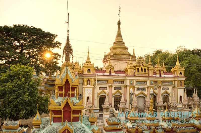 Myanmar Reisetipps | nahe Monywa | Nebengebäude von der Thanboddhay-Pagode