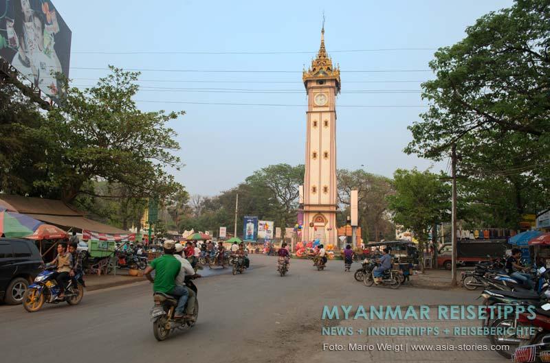Myanmar Reisetipps | Monywa | Uhrturm