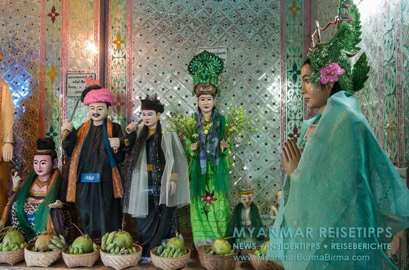 Myanmar Reisetipps | Mount Popa | Natgeister am Aufgang zum Mount Popa Taung Kalat