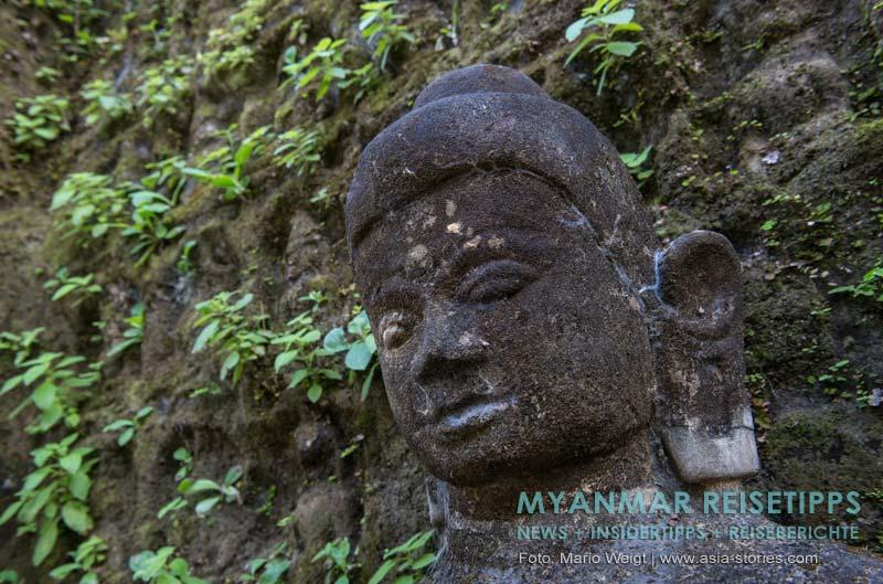 Myanmar Reisetipps | Mrauk U | Buddha-Statue im Kothaung-Tempel