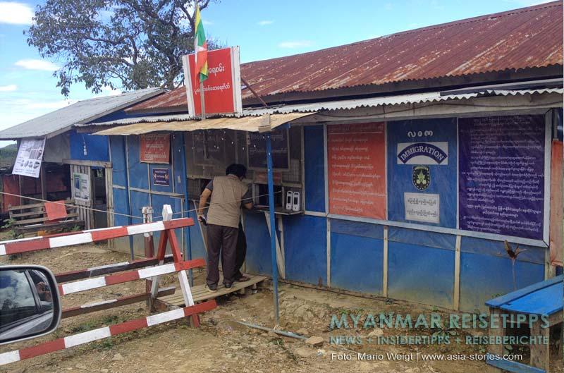 Myanmar Reisetipps | Mrauk U | Immigration Checkpoint: Auf der Strecke zwischen Magwe und Mrauk U