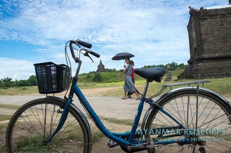 Myanmar Reisetipps | Mrauk U | Unser Fahrrad. Übrigens auch das beliebteste Fortbewegungsmittel der Einheimischen
