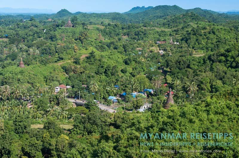 Myanmar Reisetipps | Mrauk U | Aussicht von der Shwedaung Paya auf Mrauk U