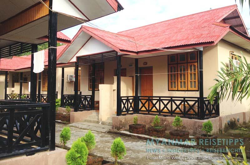 Myanmar Reisetipps | Mrauk U | Bungalow vom Mrauk U Palace Resort